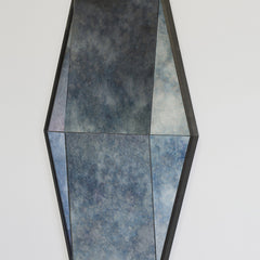 Antique Cobalt Blue Gem Mirror