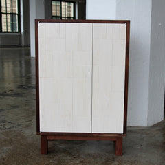 Walnut & Whitewashed Maple Cabinet