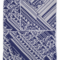 Lady Lovelace Merino Woven Throw - Grey Navy