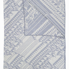 Lady Lovelace Merino Woven Throw - Grey White
