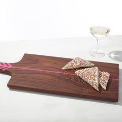 ARROW BOARD WALNUT/ELECTRIC PINK