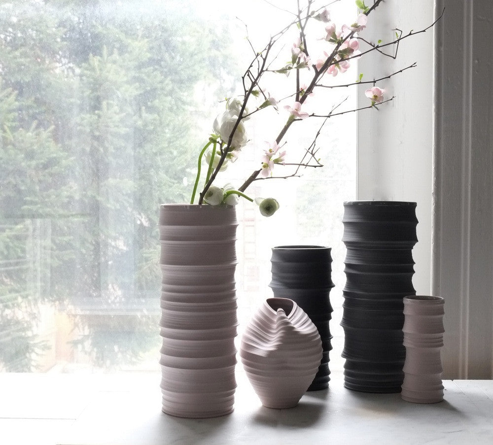 BRANCH VASE (LARGE), PALE PASTEL MAUVE