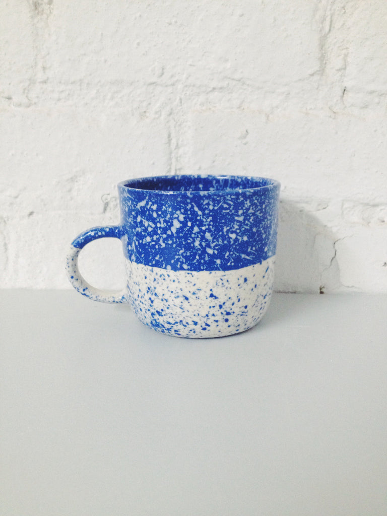 Half Speckled Mug - Blue