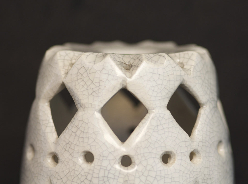 Crackle Candle Holder