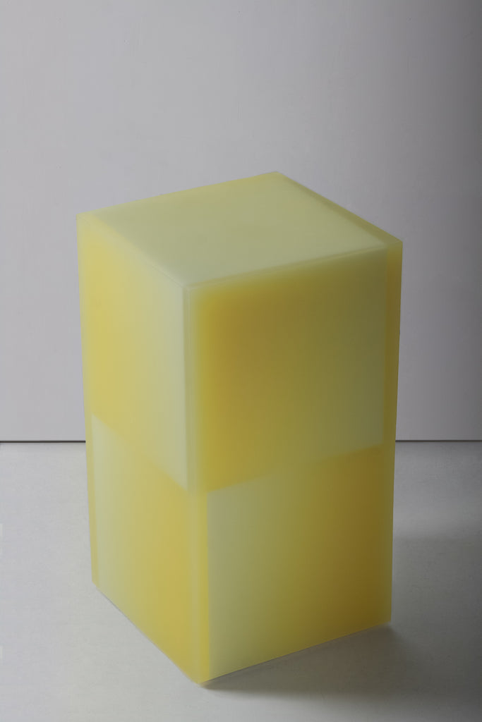 Shifted Cube Box Yellow