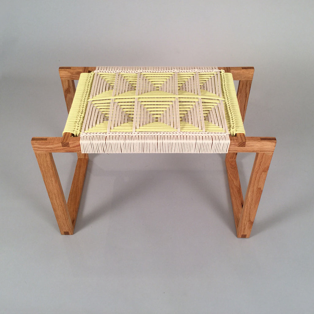 Fireside Stool Yellow/White