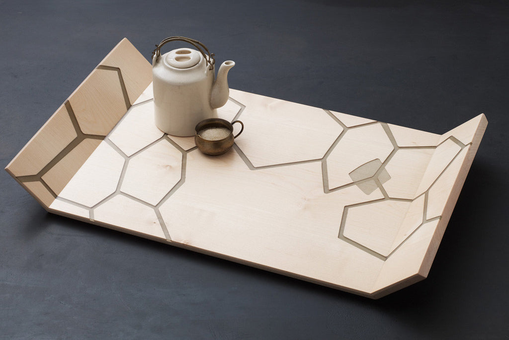 Honeycomb Tray - Maple / Smoke