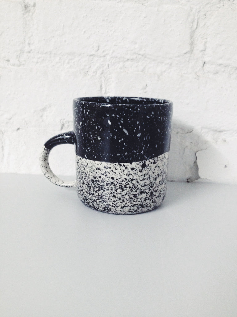 Halvsies Speckled Mug - Black