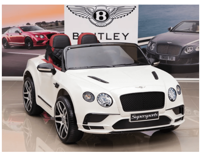 Bentley Continental Supersports 12V Ride On Childrens Electric Car with Remote - White