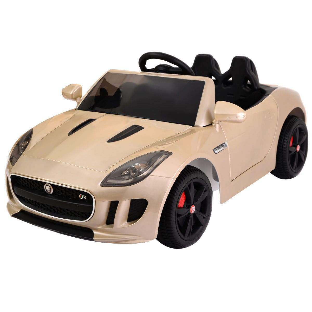12V Jaguar F-TYPE Kids Ride on Car with MP3 + RC Cars & SUVs Costway