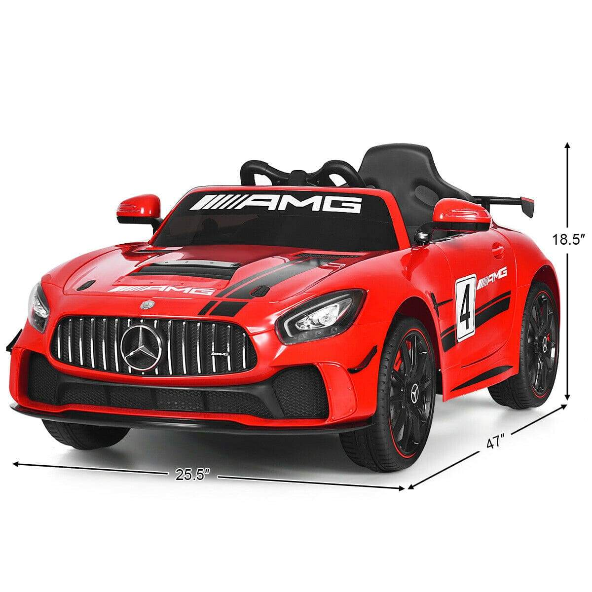 RACING MERCEDES BENZ AMG GT4 COUPE LICENSED 12V KIDS