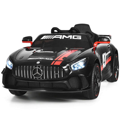 12V Kids Ride On Car with Remote Control Cars & SUVs Costway Black