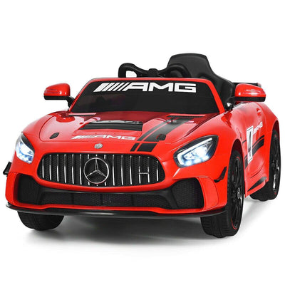 12V Kids Ride On Car with Remote Control Cars & SUVs Costway Red