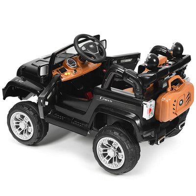 12V Kids Ride on Truck with MP3 + LED Lights Cars & SUVs Costway