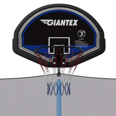 14' Foot Trampoline with Safety Enclosure Net, Ladder, and Basketball Hoop