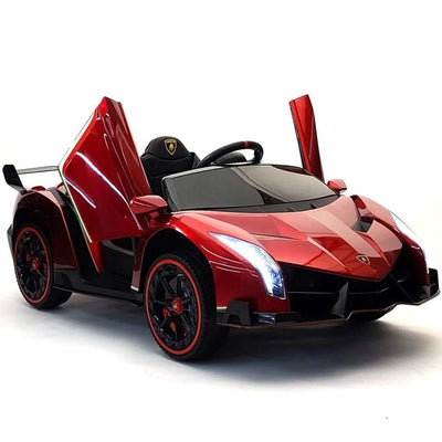 Lamborghini Veneno Roadster Kids Ride-On Car 2-Seater with Remote Control