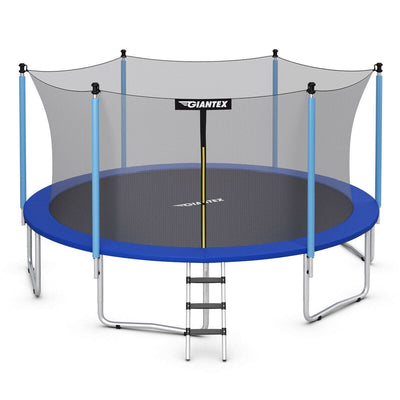 15' Foot Trampoline with Safety Enclosure Net and Ladder