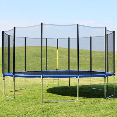 16' Foot Trampoline with Safety Enclosure Net & Ladder for Backyard