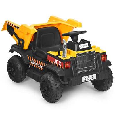 12V Battery Kids Ride On Dump Truck with Electric Bucket