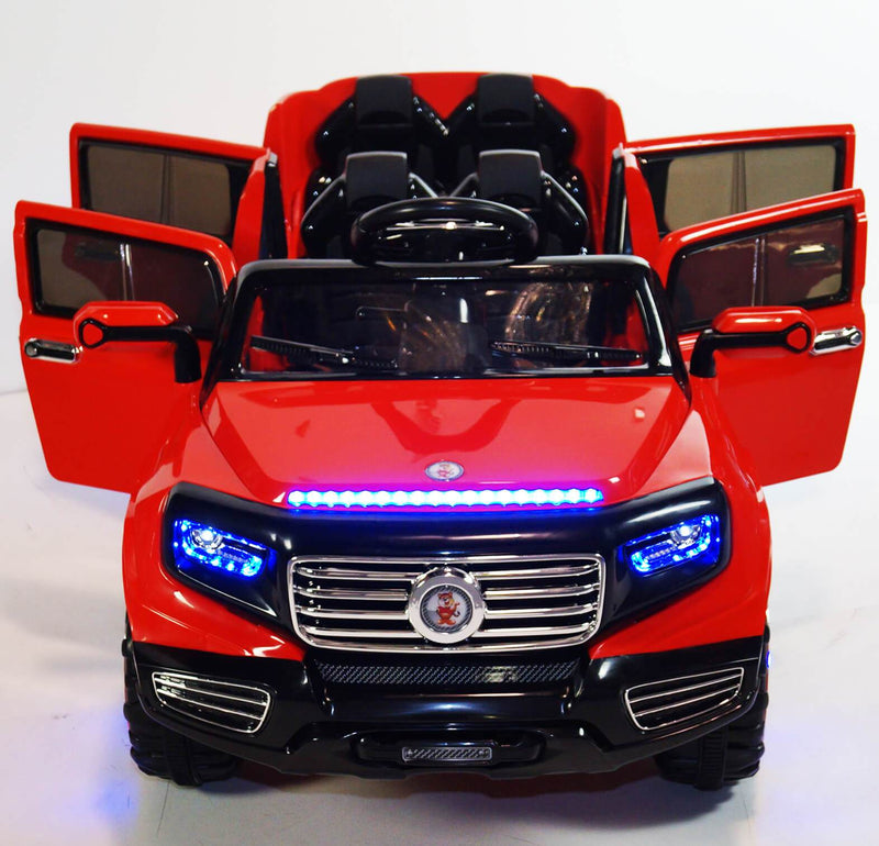 2-Seater SUV 12v Ride-On Kids Car | Red Cars & SUVs Mini Motos