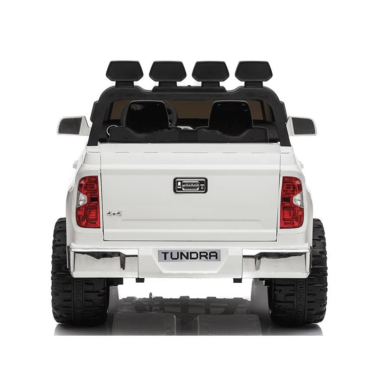 2-SEATER TOYOTA TUNDRA OFF-ROAD LICENSED 24V RIDE-ON KIDS CAR IN WHITE - FREE SHIPPING