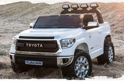 2-SEATER TOYOTA TUNDRA OFF-ROAD LICENSED 24V RIDE-ON KIDS CAR | WHITE Cars & SUVs Mini Motos