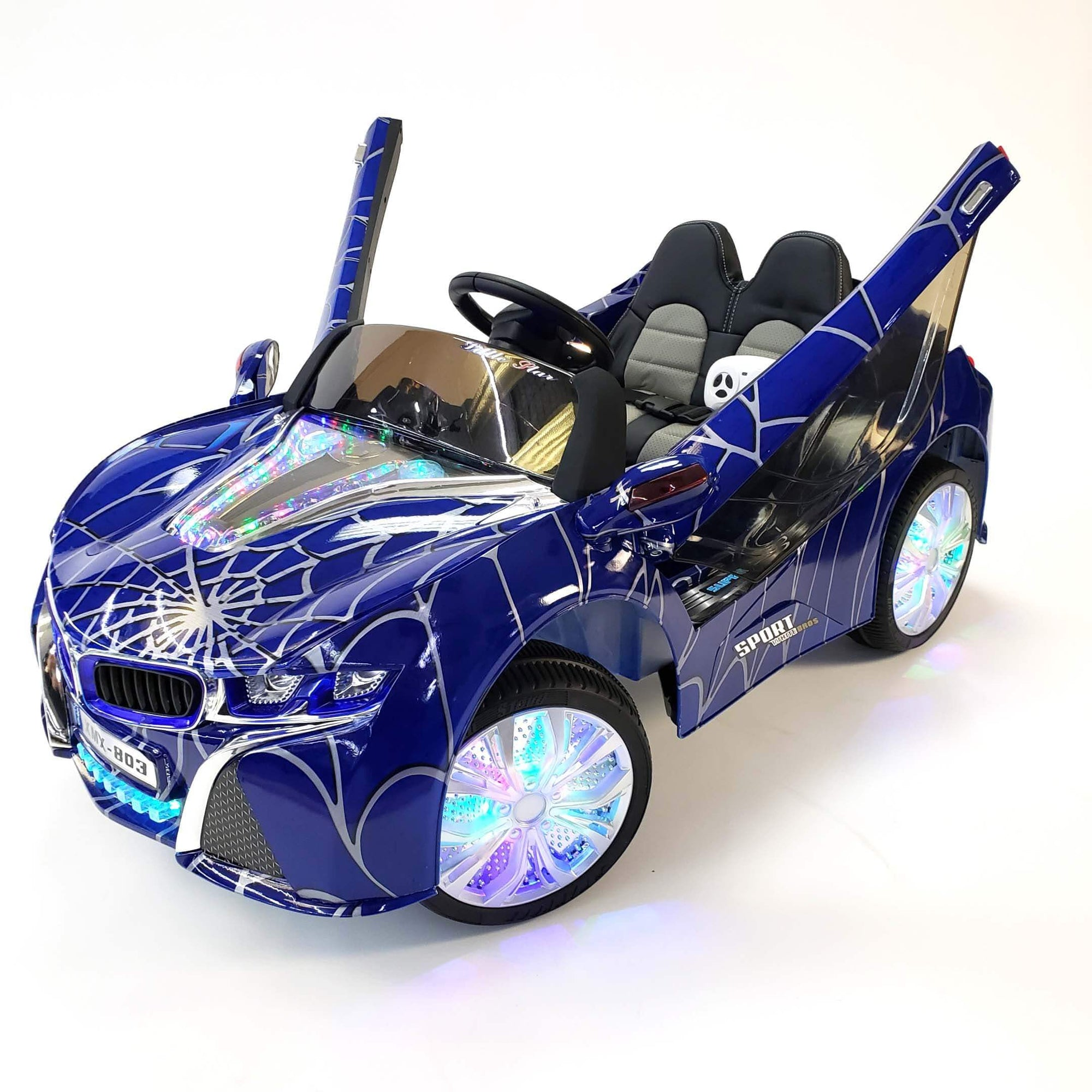 BMW i8 Inspired 1-Seater 12v Ride-on Kids Car in Customized Blue Edition - FREE SHIPPING