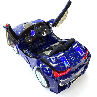 BMW i8 Inspired 1-Seater 12v Ride-on Kids Car in Customized Blue Edition