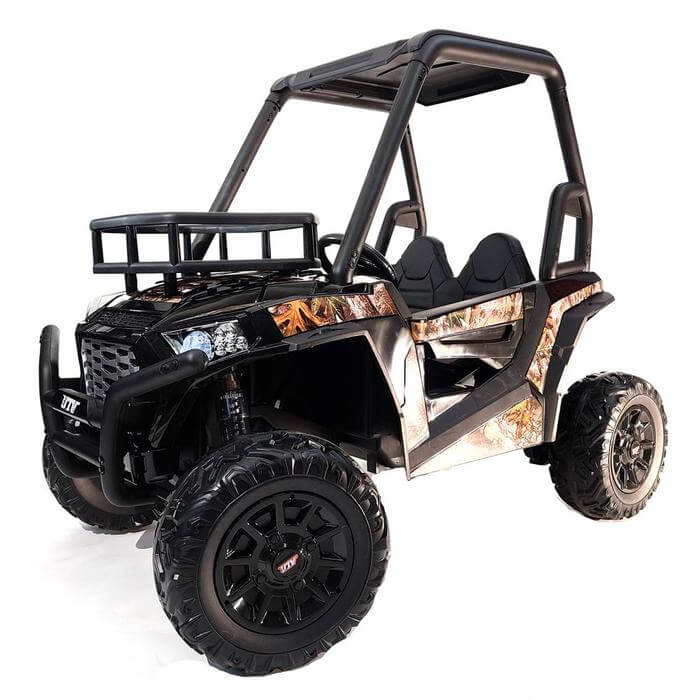 UTV Buggy 24V Dual Motor Kid's Ride On Car with 2 Seats, EVA Rubber Wheels, and Remote Control