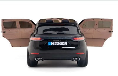 Porsche Cayenne 12V Kids Electric Ride On Car 1-Seater with Remote Control - Black