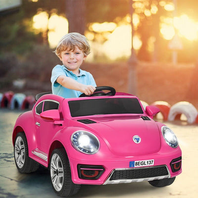 Volkswagen Beetle Inspired Electric Ride On Car Battery Powered