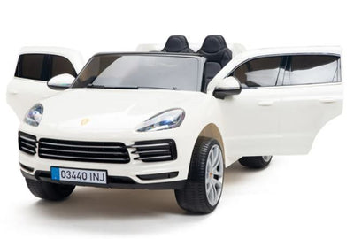 Porsche Cayenne 12V Kids Electric Ride On Car 1-Seater with Remote Control - White