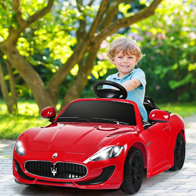 Maserati GranTurismo 12V Electric Kids Ride-On Car with LED Lights and Music