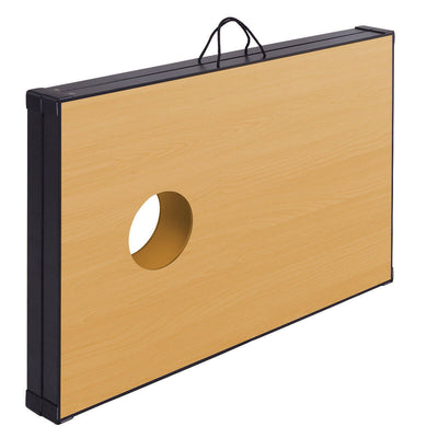 "47"" Foldable Wooden Bean Bag Toss Cornhole Game Set"