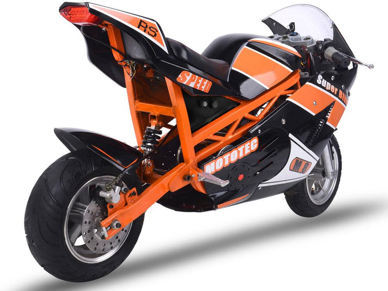 48v 1000w Kid's Ride-On Electric Superbike | Black and Orange Motorbike MotoTec