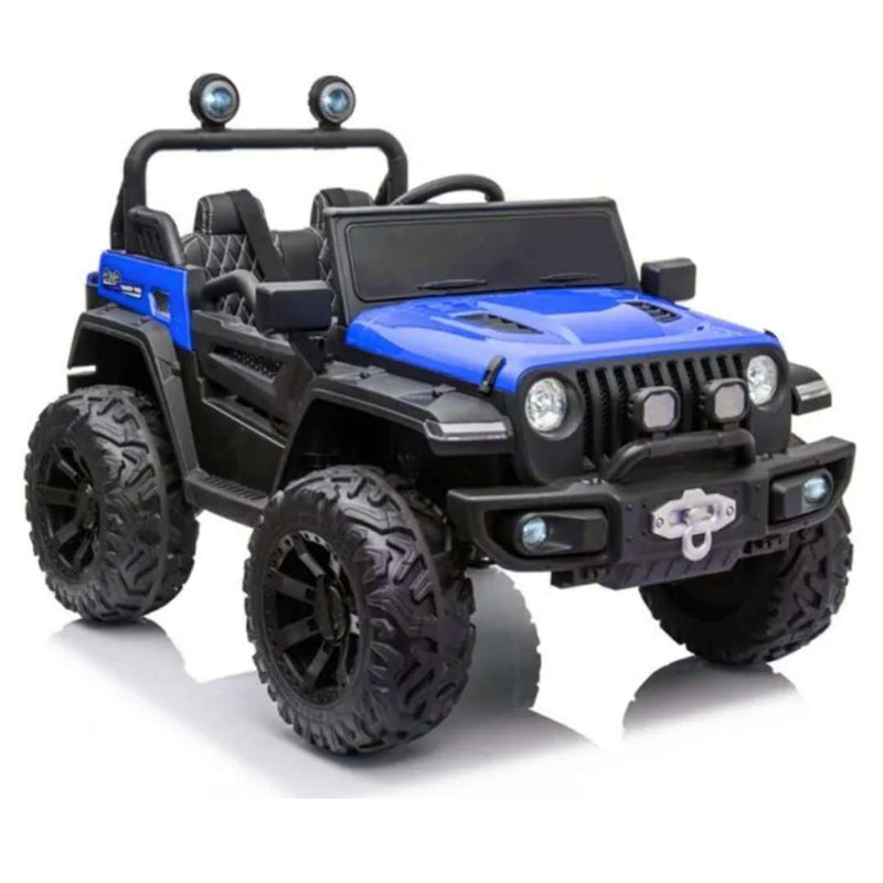 4x4 Off-Road 12V Jeep 1-Seater Kids Ride on Car with Leather Seats, EVA Rubber Wheels, and Remote Control