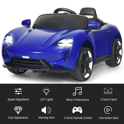 Porsche Taycan Inspired 12V Kids Ride On Car with MP3 & LED Light