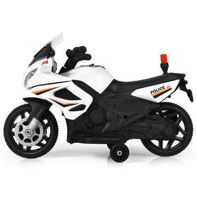 6V Battery Powered Kids Police Ride-On Motorcycle Bike WITH TRAINING WHEELS - FREE SHIPPING