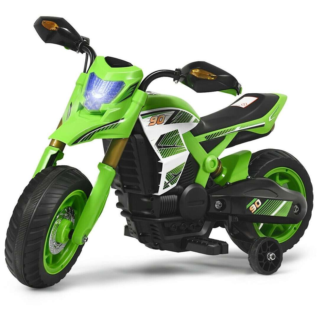 6V Battery Powered Kids Ride-On Motorcycle Bike WITH TRAINING WHEELS - FREE SHIPPING