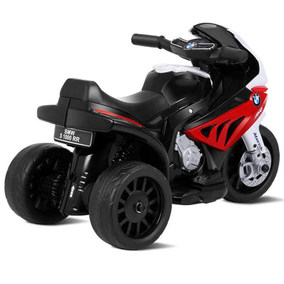 6V Kids 3 Wheels Riding BMW Licensed Electric Motorcycle Motorbike Costway