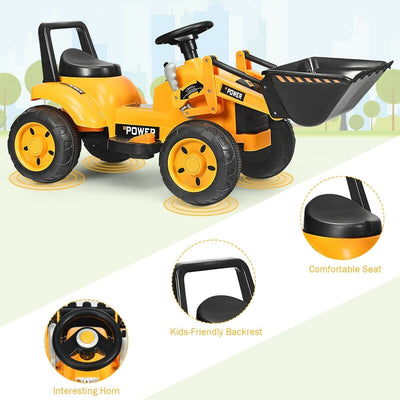 6V Battery Powered Kids Ride On Excavator