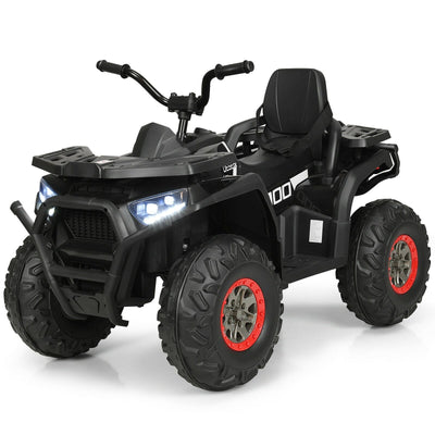 All-Terrain 12v Kid's ATV Quad Ride-on Car with LED Lights and MP3