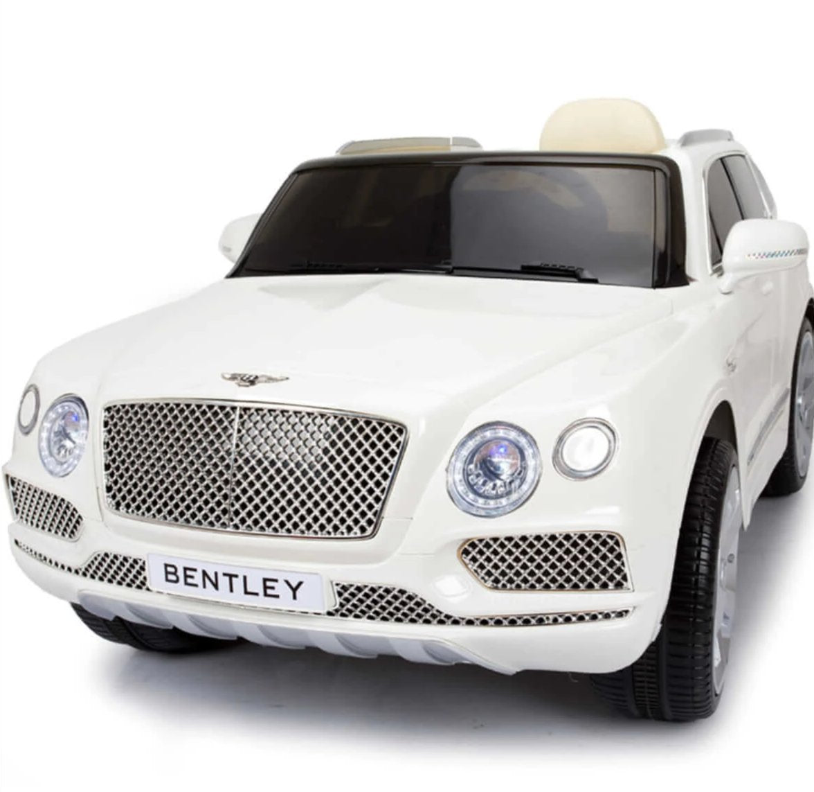 BENTLEY BENTAYGA SUV 12V KIDS RIDE-ON CAR WITH REMOTE CONTROL IN WHITE - FREE SHIPPING
