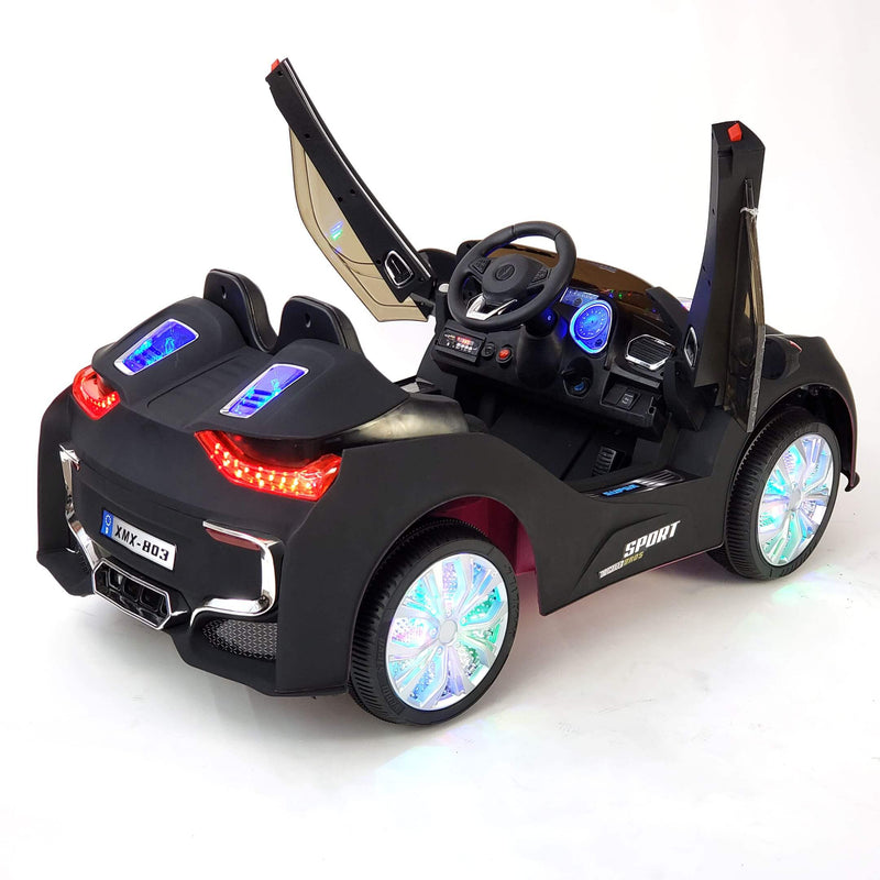 BMW i8 Inspired 1-Seater 12v Kids Ride-On Car in Matte Black - FREE SHIPPING