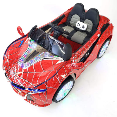BMW i8 Inspired 1-Seater 12v Ride-on Kids Car in Limited Spider Red Edition - FREE SHIPPING