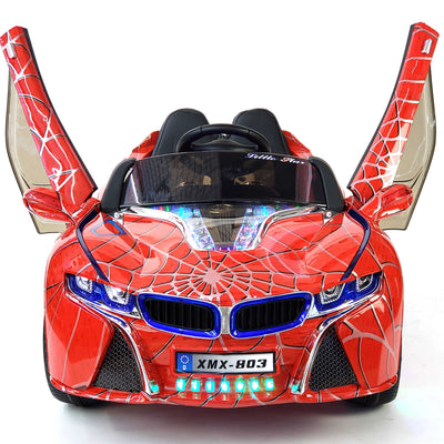 BMW i8 Inspired 1-Seater 12v Ride-on Kids Car in Limited Spider Red Edition
