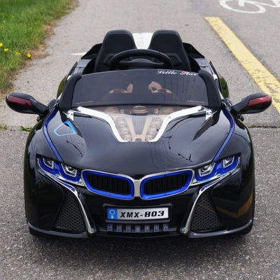 BMW i8 Inspired 1-Seater 12v Ride-On Kids Car in Custom Black - FREE SHIPPING