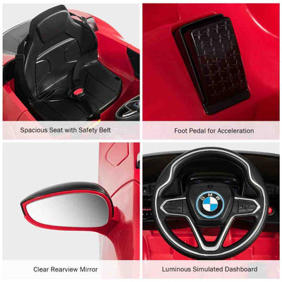 BMW i8 Coupe 1-Seater 12v with Remote Control Kids Ride-On Car