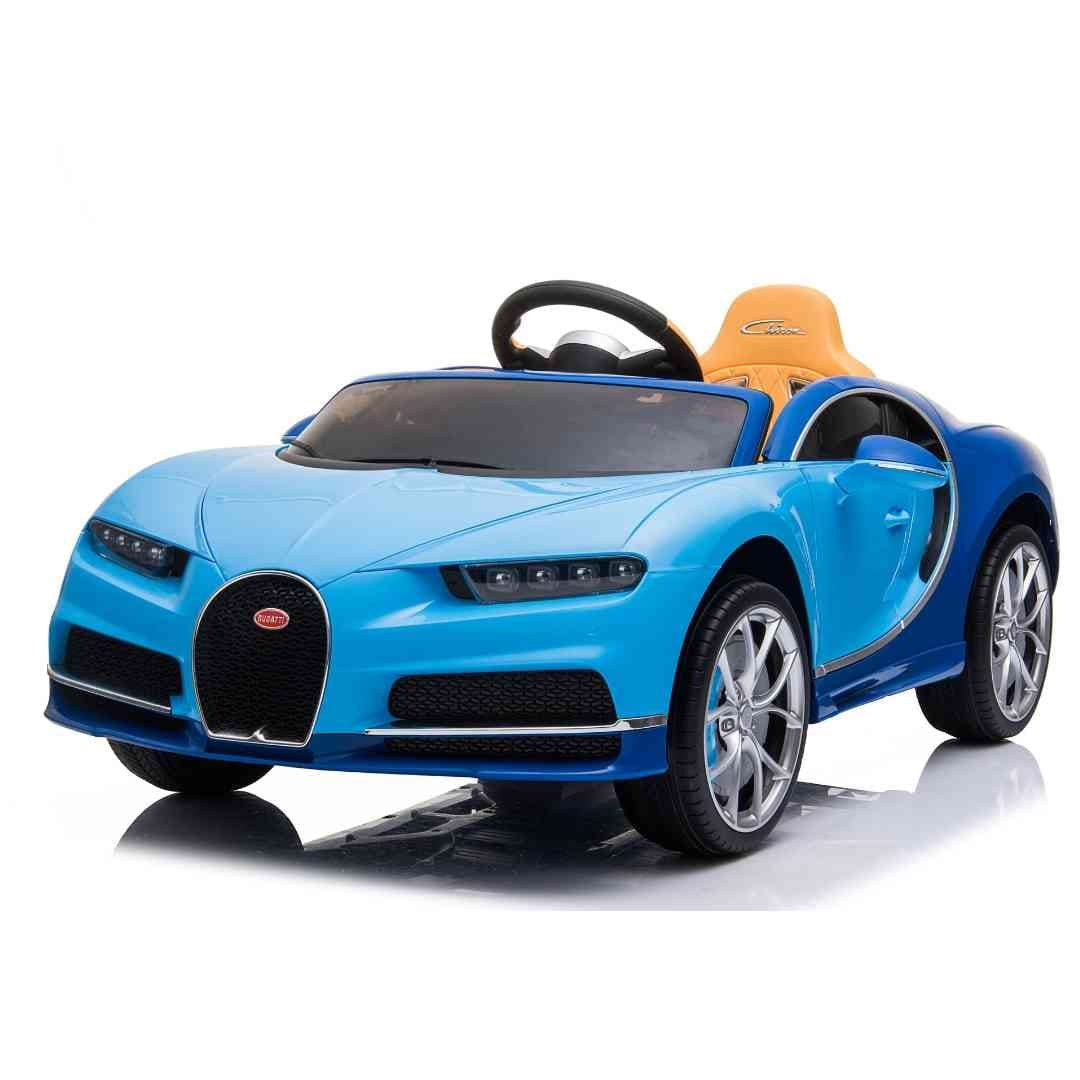 Blue Bugatti Chiron 12V Kids Ride On Car with Remote Control - FREE SHIPPING