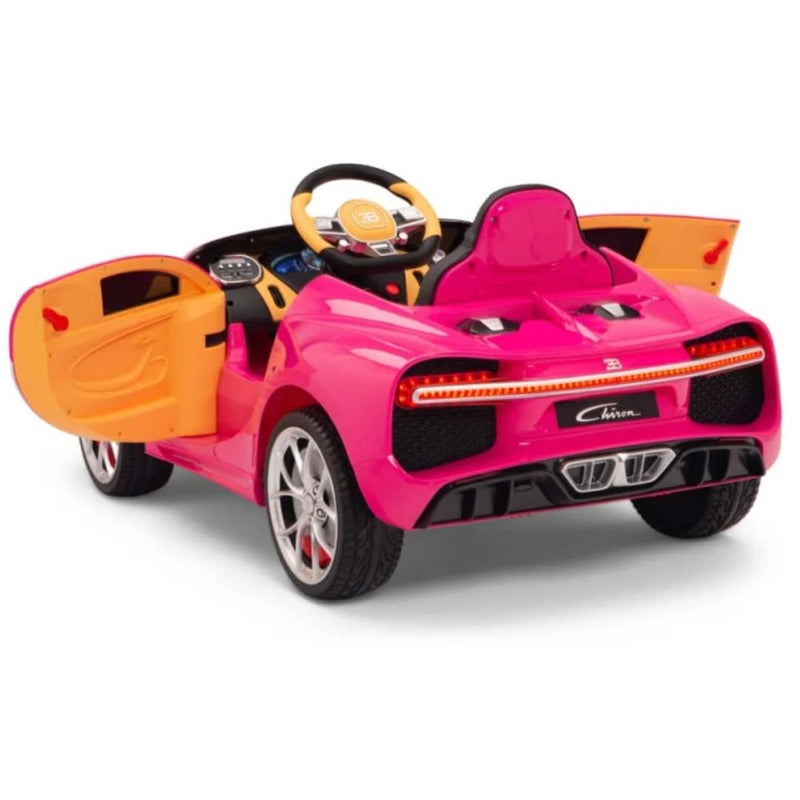 Bugatti Chiron 12V Kids Ride On Car with Leather Seat and Remote Control